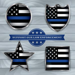 Police Fabric, Support our Law Enforcement Fabric 1291 - Beautiful Quilt