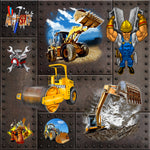Truck Fabric, Construction Fabric with Big Trucks 678