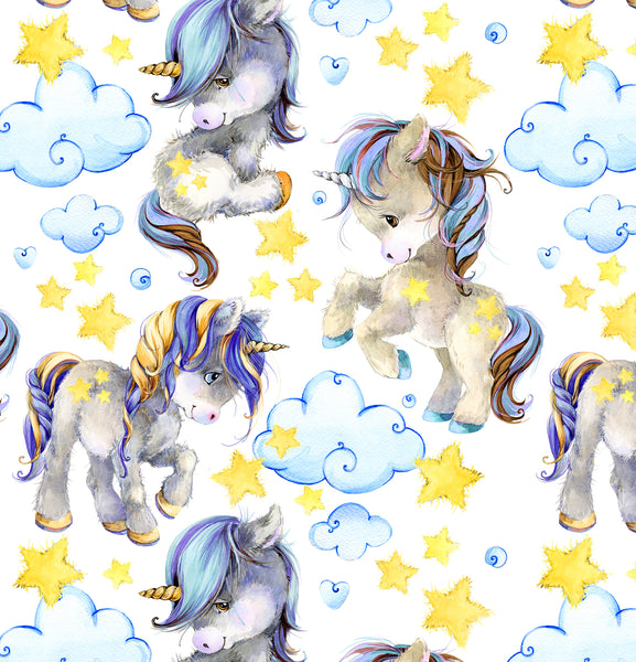 Children's Fabric, Unicorn Fabric, Cotton or Fleece, 2281