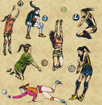Sports Fabric, Volleyball Fabric, Women's Volleyball, Cotton or Fleece 1929 - Beautiful Quilt