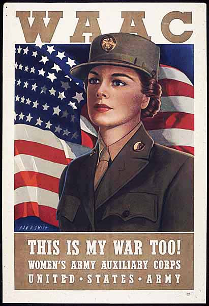 Women in the Military, WAAC Poster Fabric Panel 1674 - Beautiful Quilt
