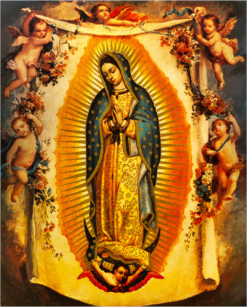 Our Lady of Fabric, Our Lady of Guadalupe 1740 - Beautiful Quilt