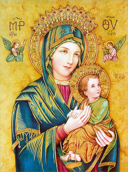 Our Lady of Fabric, Our Lady of Perpetual Help Fabric Panel 1741 - Beautiful Quilt