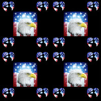 Military Fabric, Patriotic Fabric, Eagle and Servicemen, Cotton, Fleece, Canvas, 2226 - Beautiful Quilt