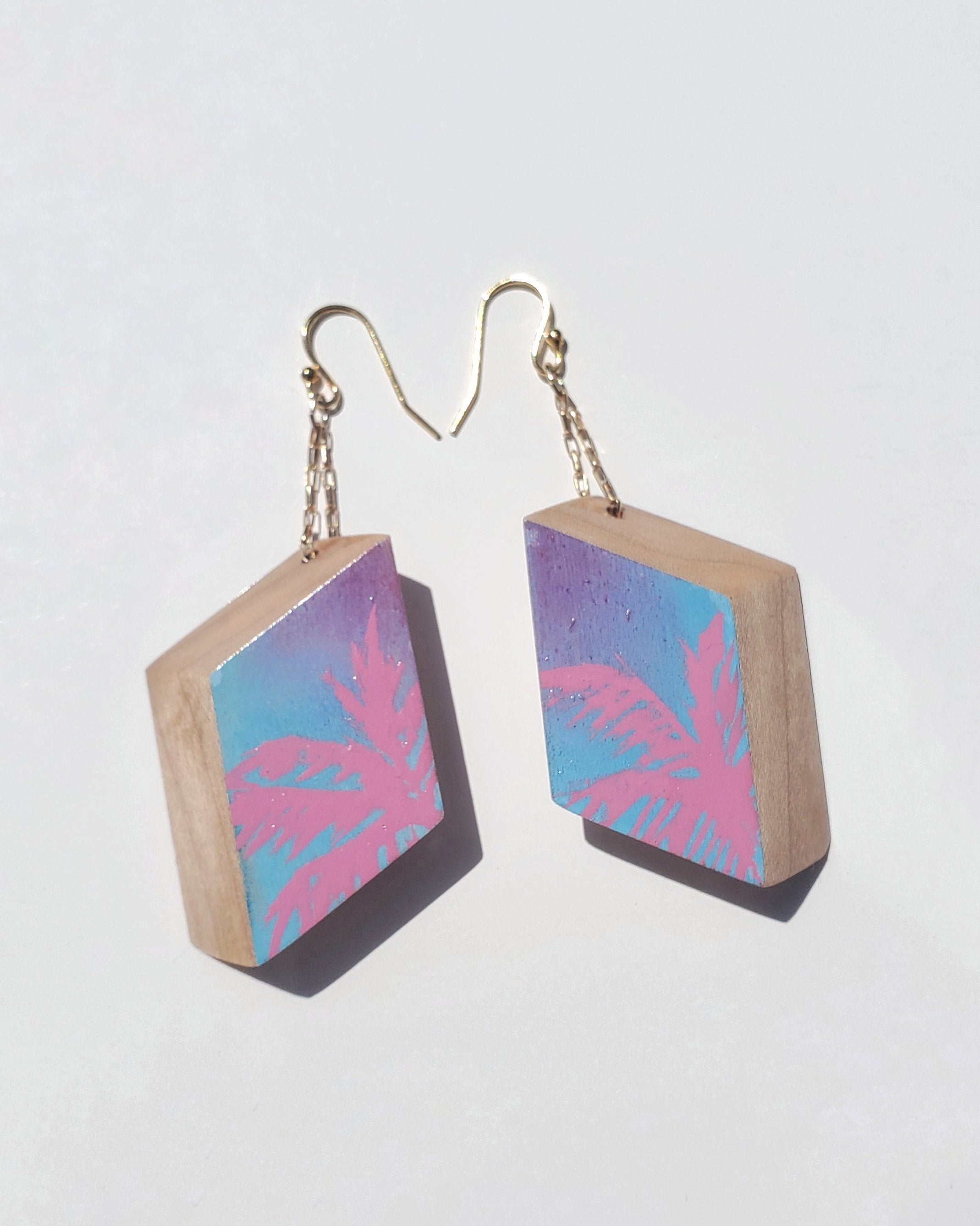 Pink Palmeros Earrings