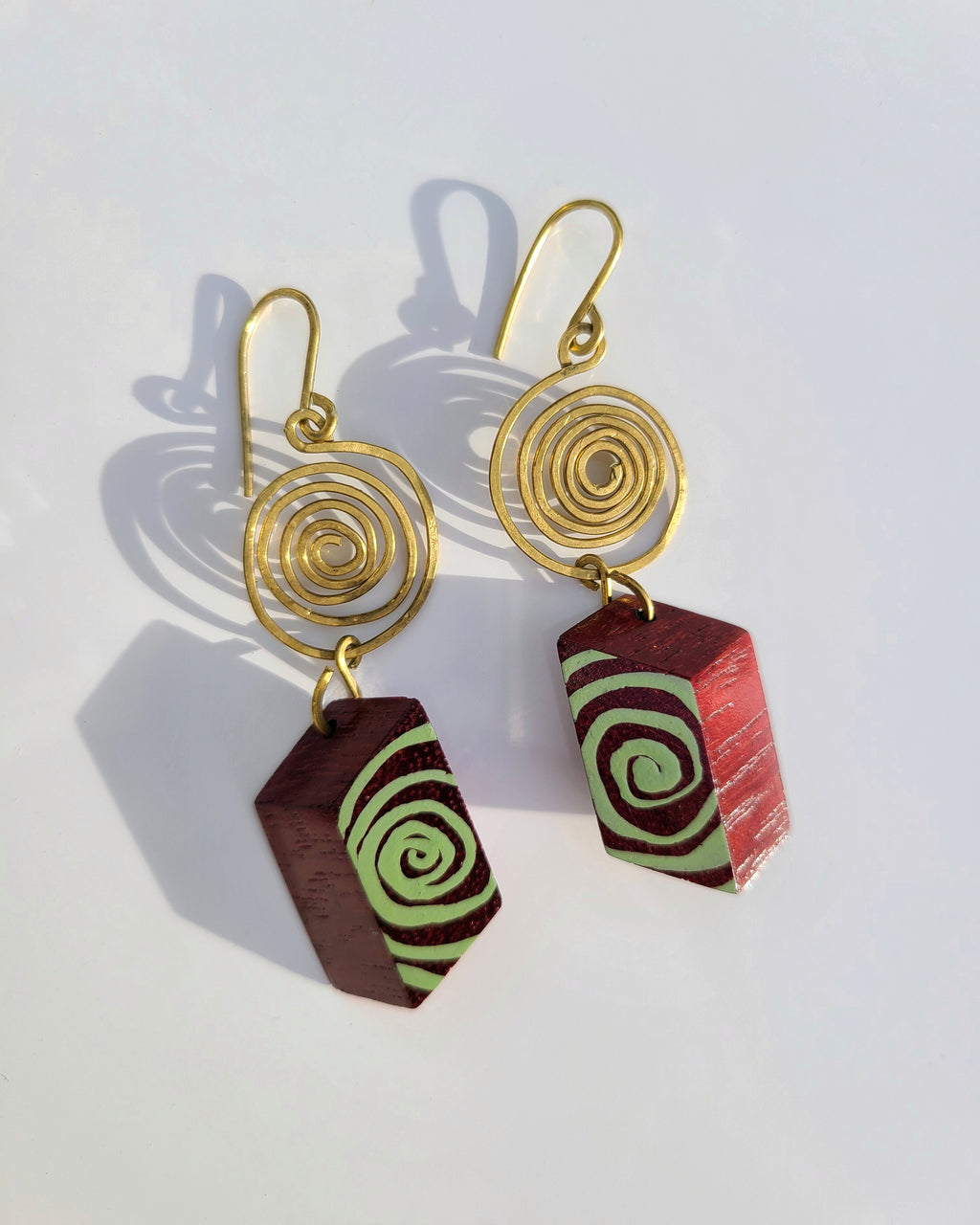 Espiral Brass Earrings