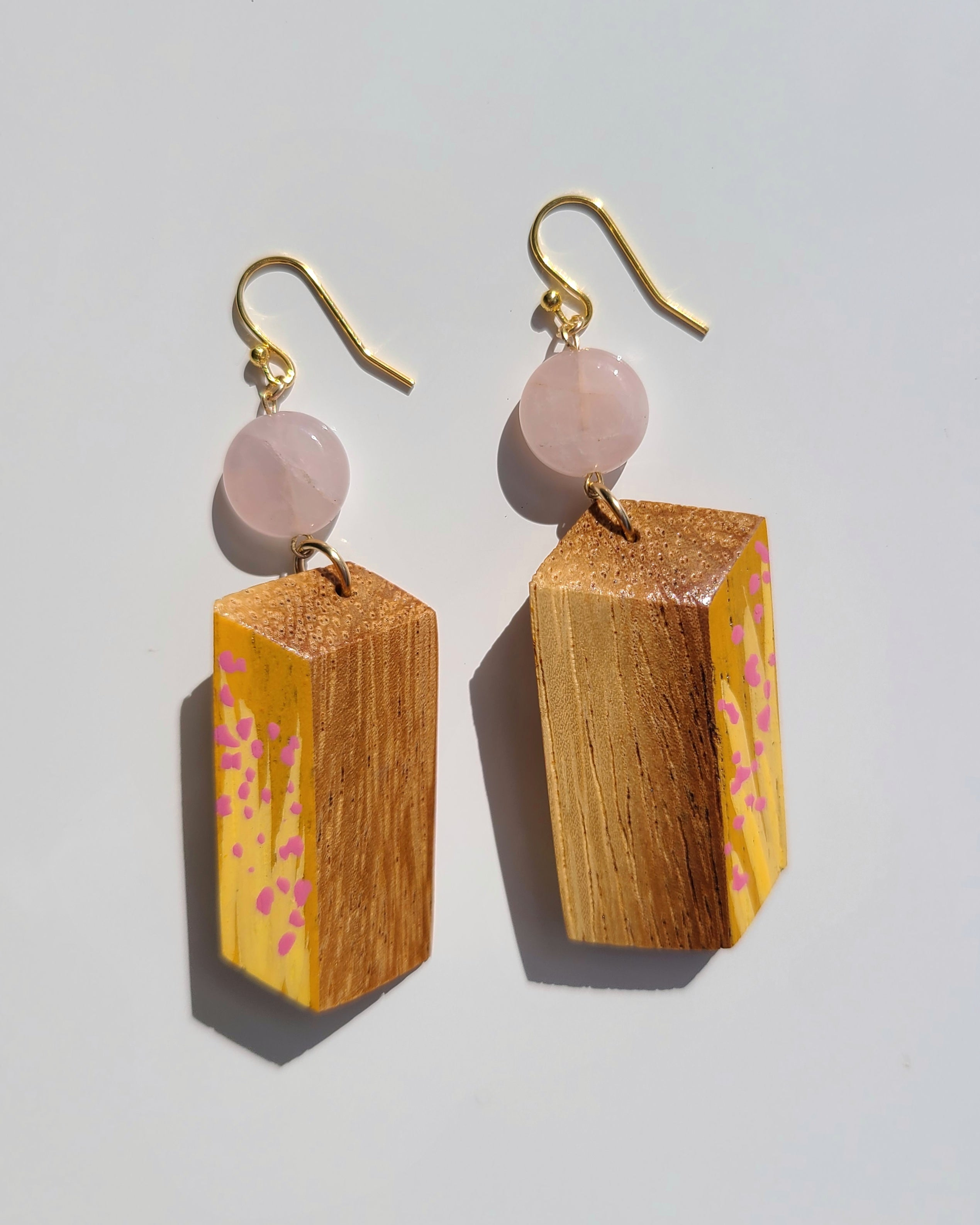 Floral Paint Yellow Earrings