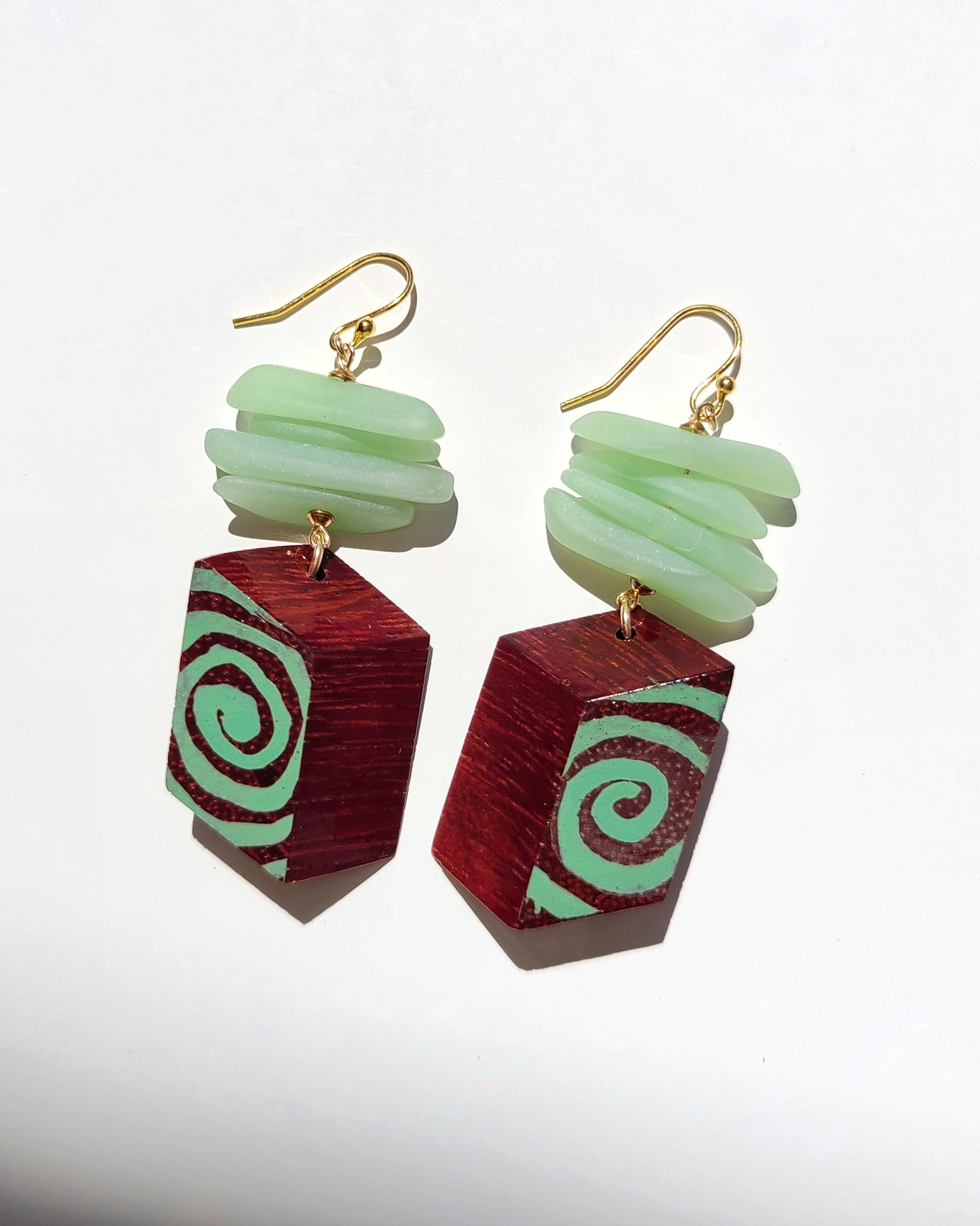Espiral Glass Earrings