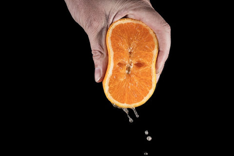 Squeeze orange pelvic floor