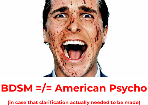 Christian Bale in American Psycho - BDSM is not like American Psycho