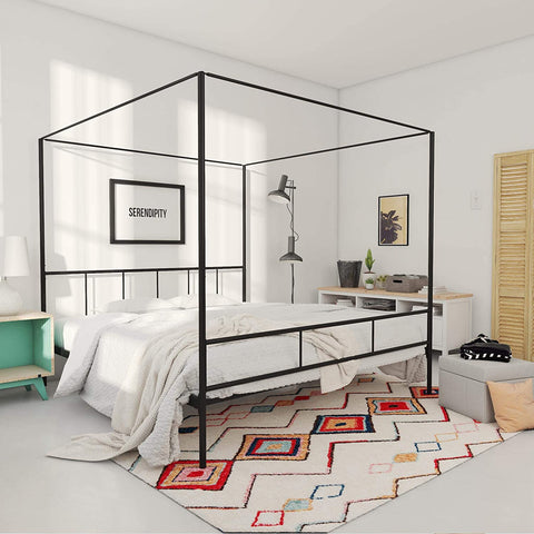 a sturdy canopy bed enables you add a variety of straps for a variety of positions