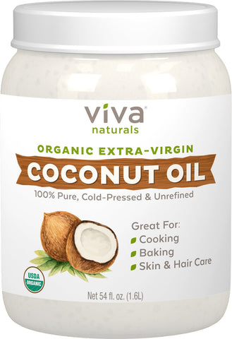 Viva Naturals - organic extra virgin coconut oil as an anal lube