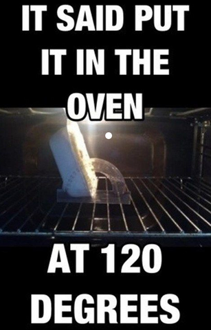 Instructions unclear, image of protractor in the oven, similar to finding the clitoris without good instructions