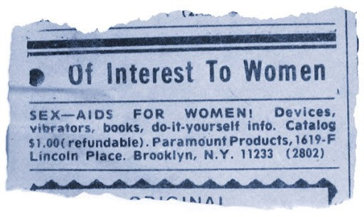 newspaper ad for sex aids