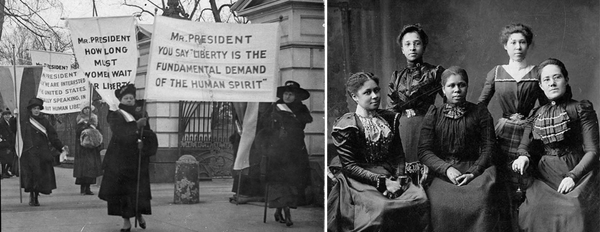 women's suffrage movement leaders, picketing in Washington, Texas Colored Women's Club leaders