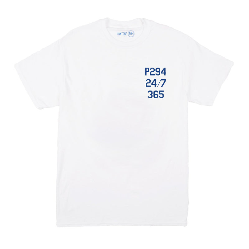 Pantone 294 24/7/365 White T-shirt  - Mens