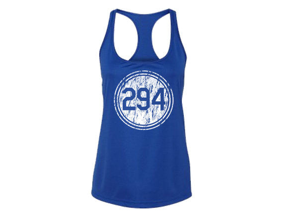Pantone 294 Distressed Dri-Fit Tank Top - Womens