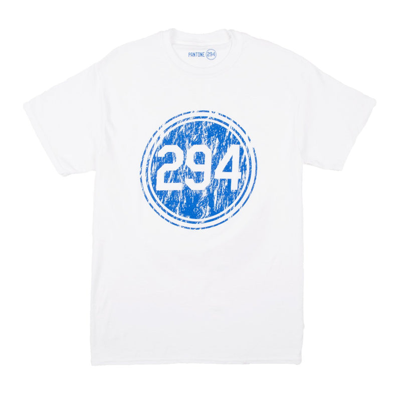 Pantone 294 Distressed White T-Shirt - Youth