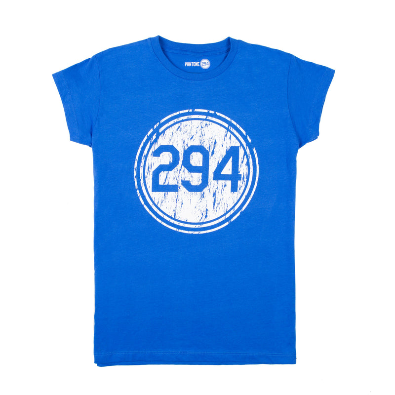Pantone 294 Distressed T-shirt - Womens