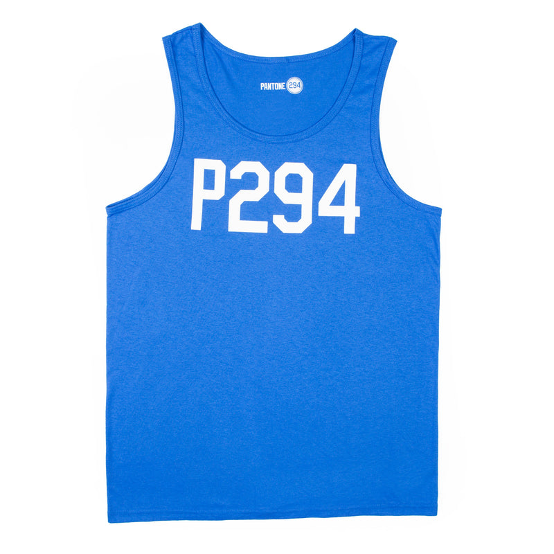 P294 Blue Tank Top-Mens