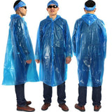 3PCS EMERGENCY RAIN PONCHO WITH HOOD - ONE SIZE FITS ALL