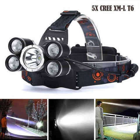 'THE BIG BOY' - ZOOMABLE WATERPROOF 5X CREE T6 SUPER HEADLAMP
