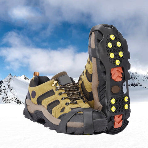 ICE SNOW TRACTION SHOE BOOT CLEATS - NO SLIP GRIPPER SPIKES