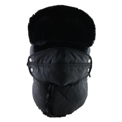 SNAPPY UNISEX MASK BOMBER HAT WITH SCARVE 5 COLORS