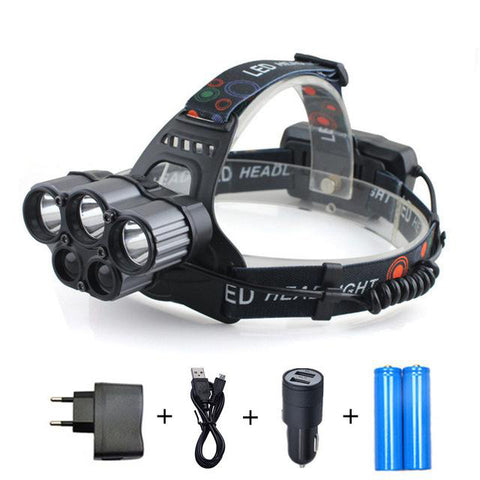 SNAPPY 'MONSTER'- 15000 LUMENS 5 CREE LED HEADLAMP XML