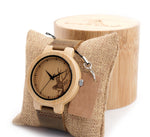 Men Deer Head Design Bamboo Watch