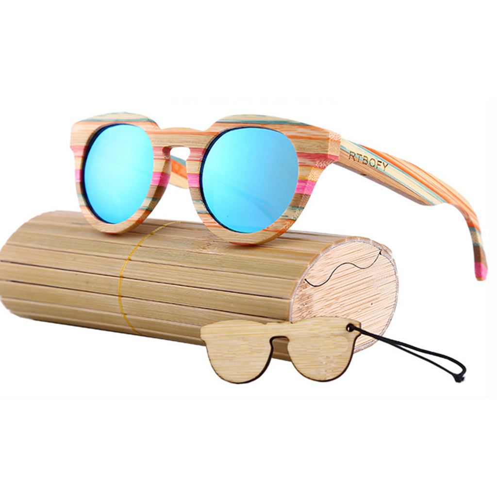Bamboo Rainbow Frame Sunglasses - 50% OFF