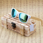 Bamboo White Frame Sunglasses
