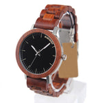 Men Red Sandalwood Casual Watch
