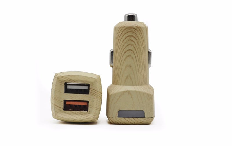 Wood Fast Car Charger