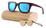 Men Stylax Wooded Mirrored Sunglasses