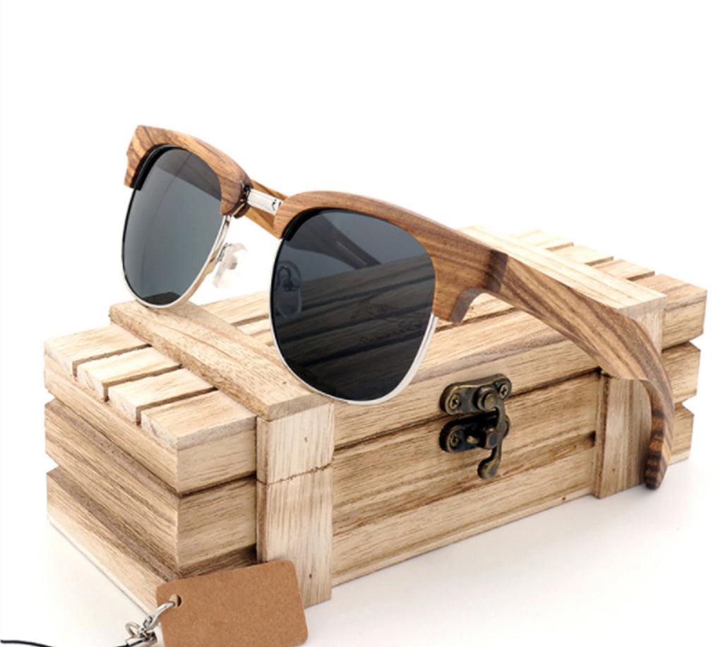 Vintage Club Wood Sunglasses - 55% OFF