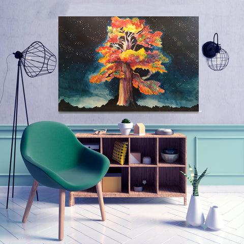Tree Painting by Anna Abramzon