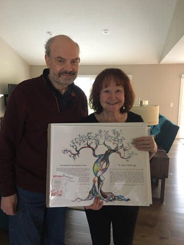 Jerry and Marcia with their new ketubah
