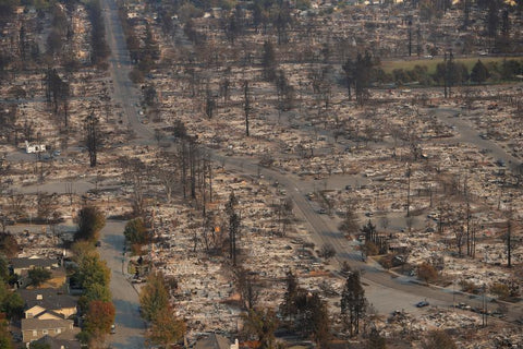 aftermath of fires by Reuters