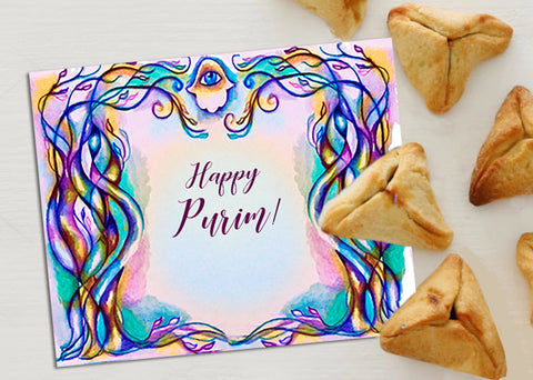 Purim card by Anna Abramzon