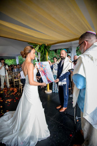 Oren and Catalina with Ketubah