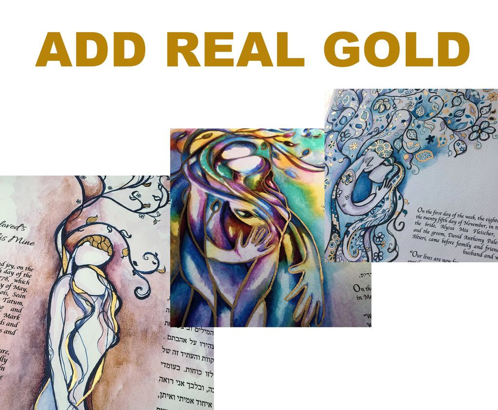 ADD REAL GOLD LEAF TO ANY KETUBAH, BLESSING, OR ART PRINT