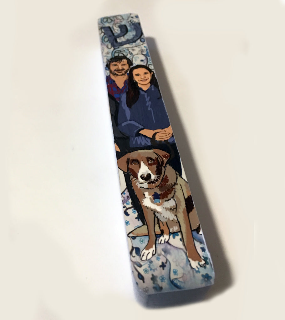 Custom Family Portrait Mezuzah Case