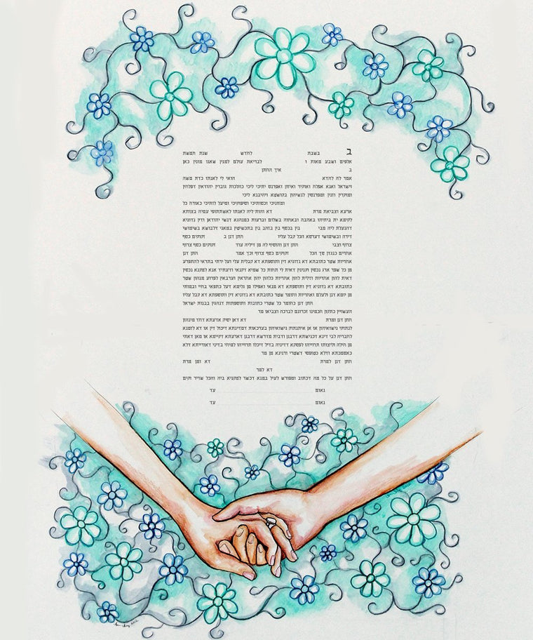 I Wanna Hold Your Hand Ketubah