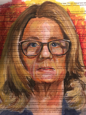 Christine Blasey Ford Portrait by Anna Abramzon