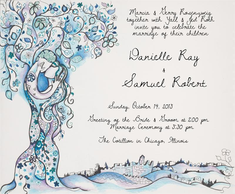 Love Tree Wedding Invitation & Response Cards - Anna Abramzon Studio