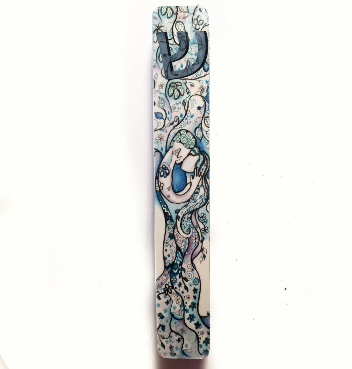 Jerusalem Love Tree Mezuzah Case