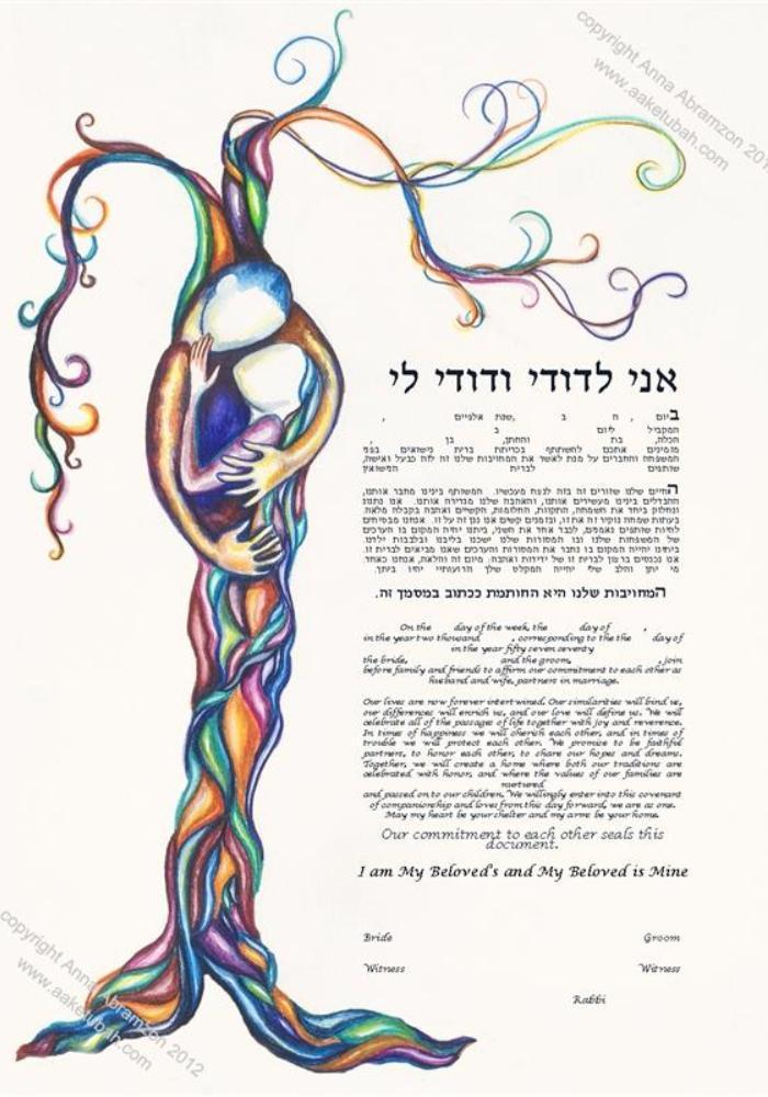 Love Tree Ketubah 2