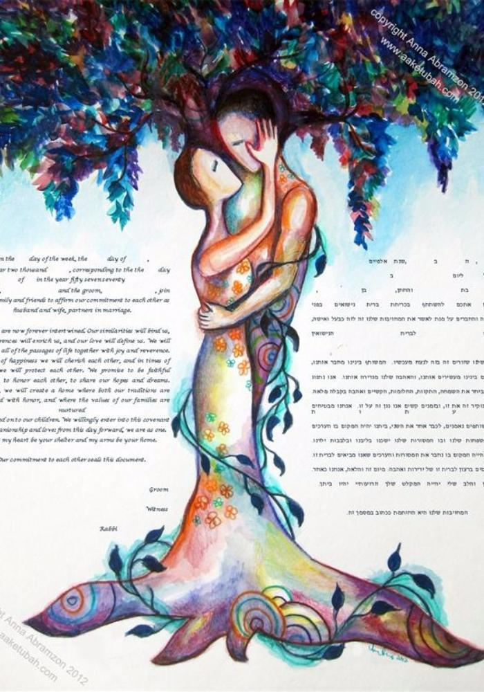 Love Tree Ketubah 3