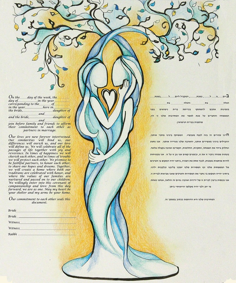 Same Sex Love Tree Ketubah